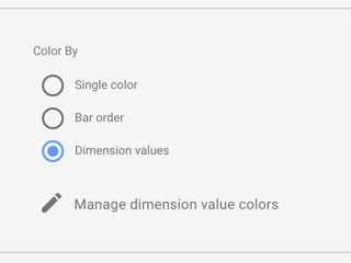 Data coloring options