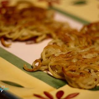 Spiralized Golden Potato Latkes.