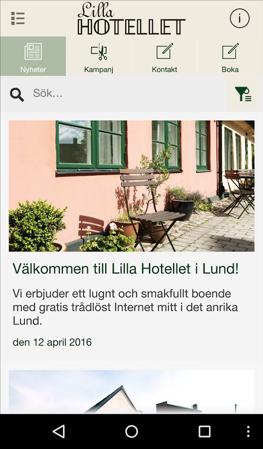 Lilla Hotellet i Lund- screenshot