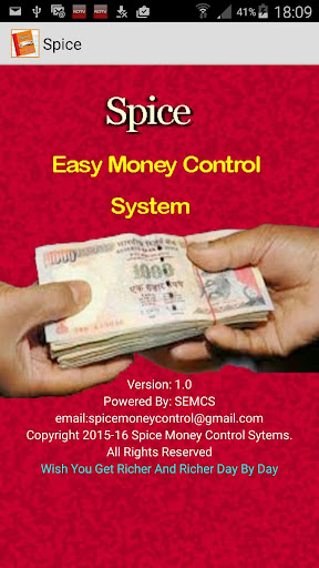 Spice Easy MoneyControl System