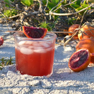 Blood Orange Sweet Tea Bourbon Cocktail