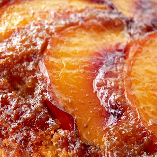 Nectarine Streusel Cake.