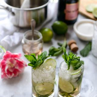 Rosé Champagne Mojitos