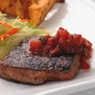 Chili-Rubbed Steaks & Pan Salsa