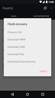 Screenshot of Flashify (for root users)