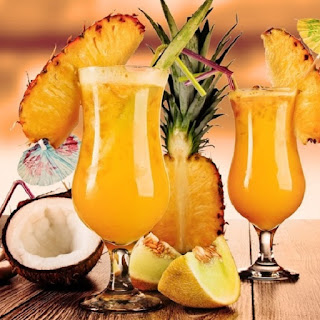 Simple Pina Colada Cocktail.