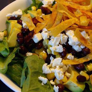 Santa Fe Salad with Peanut Lime Vinaigrette.
