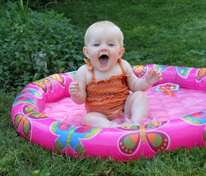 Photo: Pool time always brings such big smiles!!  ;)