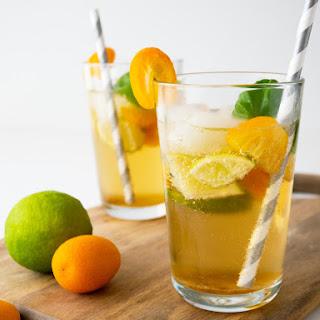 Kumquat Basil Ginger Limeade.
