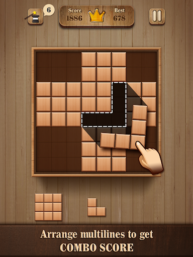 Fill Wooden Block 8x8: Wood Block Puzzle Classic 1.1 screenshots 5