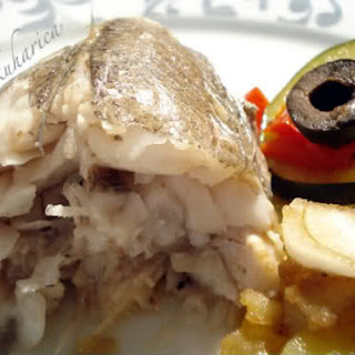 Oven-Baked Hake with Vegetables and Lovage Recipe