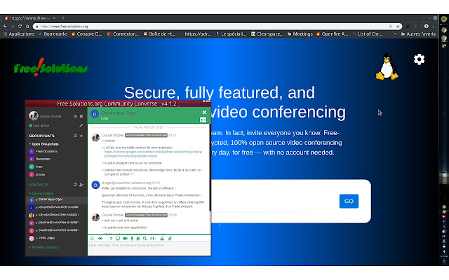 Free-Solutions Chat & webRTC Videoconf - Chrome Web Store