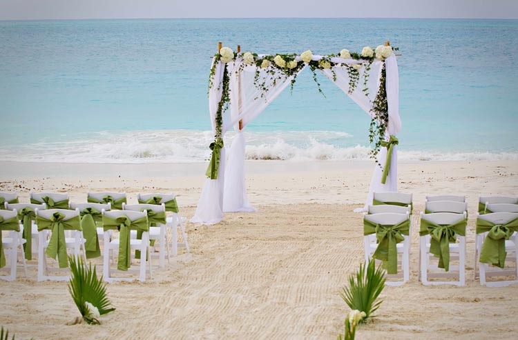 Grace Bay Club offers wedding services right on a gorgeous stretch of beach.