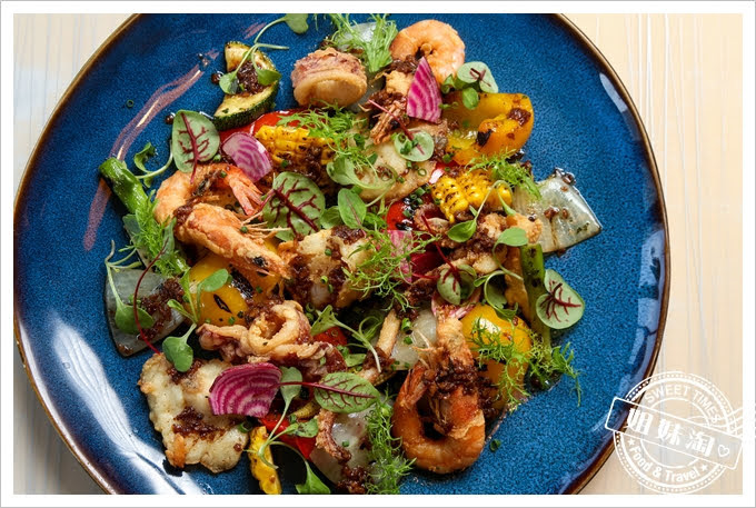 LAONEKitchen酥炸海鮮碳烤蔬菜