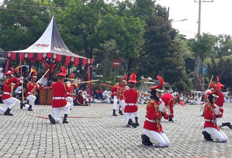 Lomba Peraturan Baris Berbaris Di Kabupaten Ngawi