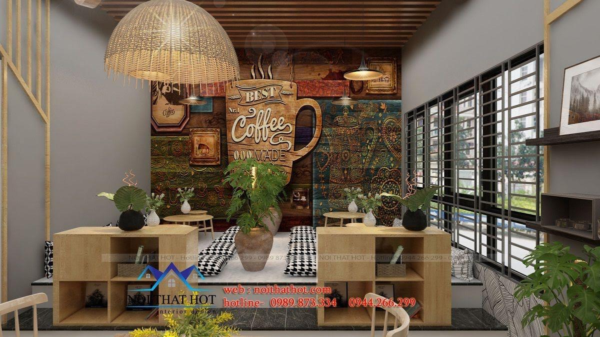 thiết kế cửa hàng trà sữa hiện đại