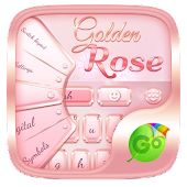 Golden Rose GO Keyboard Theme