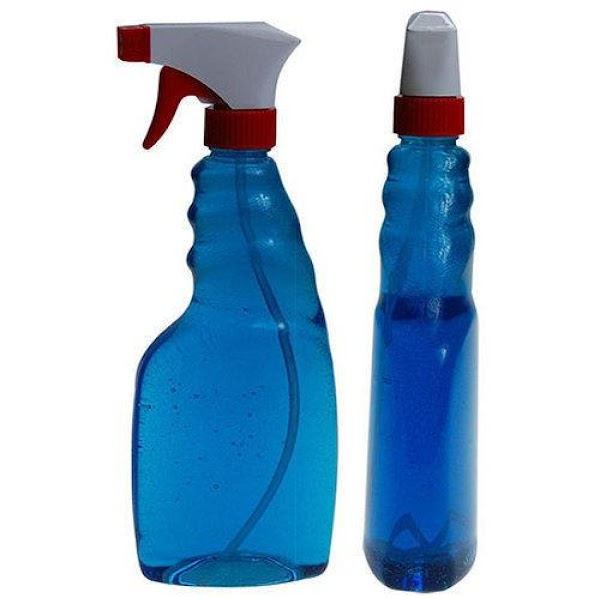 Use a recycled spray bottle that you have cleaned out thoroughly so we can...