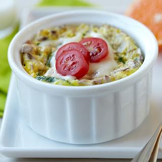 Microwave Egg & Veggie Breakfast Bowl.
