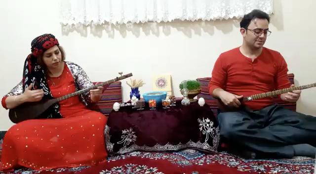 مقام جلوشاهی سهتار  بهروز سلیمی تنبور سارا برزوپور کرمانشاه