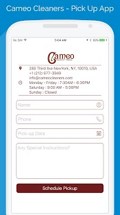 Cameo Cleaners - Pick Up App- screenshot thumbnail