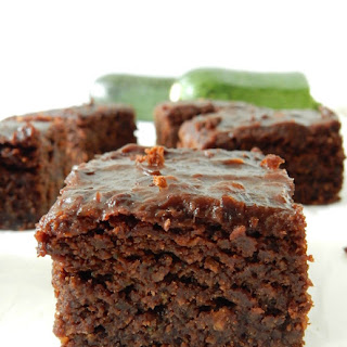 Vegan Zucchini Brownies with a Chocolate Date Icing