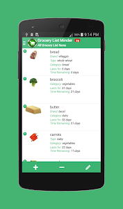 Grocery List Minder screenshot 1