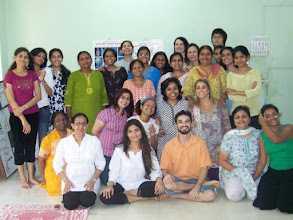 Photo: 1 Month YTT Course - Daniel Fonseca & Jeenal Mehta with batch of May 2008 - Group Photo.