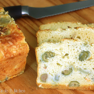 Artichoke Biscuit Bread with Asiago Cheese and Olives