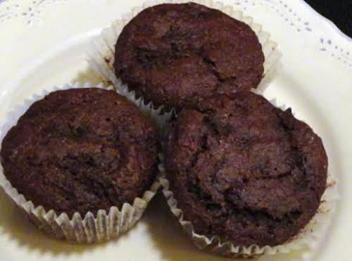 "Chocolate-Zucchini Muffins ""You know you have a good recipe when your hubby..."