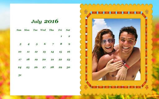 玩攝影App|Calendar Frames 2015免費|APP試玩