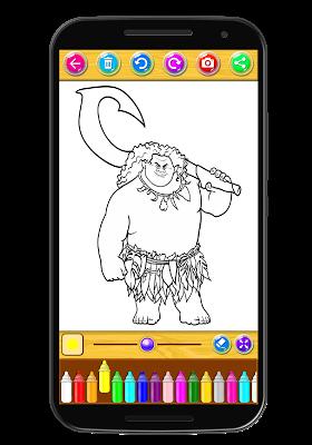 Coloring book maona - screenshot