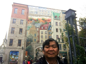 Photo: Old Quebec City mural