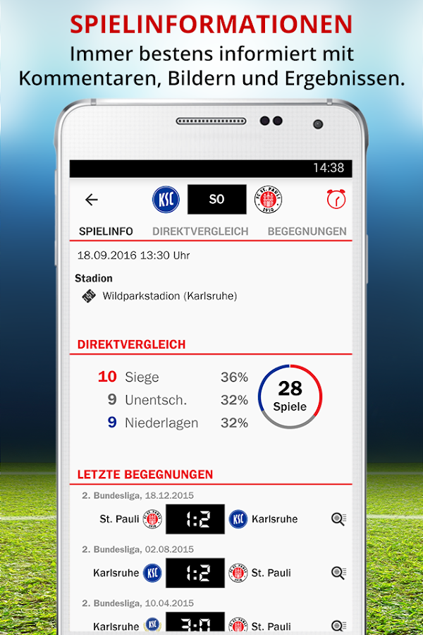 kicker MeinVerein – Screenshot