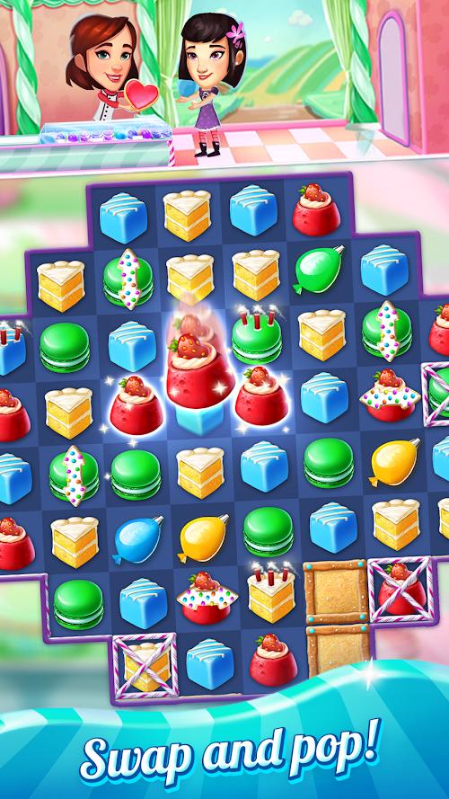 Screenshot 1 Crazy Cake Swap: Matching Game 1.65 APK MOD