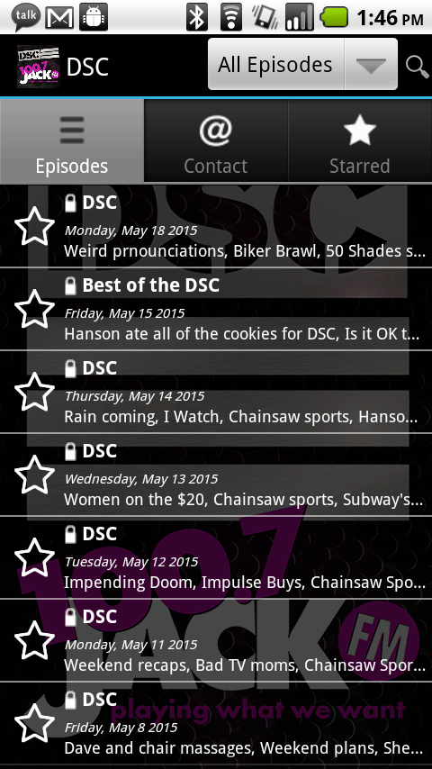 DSC Show- screenshot