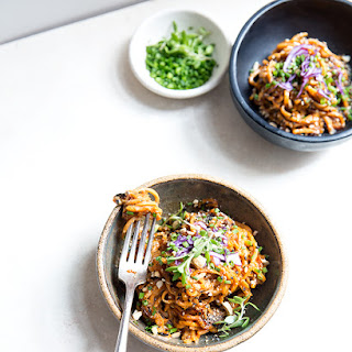 Sweet Potato Noodles + Sweet And Spicy Peanut Sauce