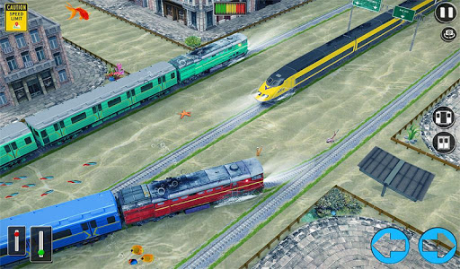 Underwater Bullet Train Simulator : Train Games screenshots 12
