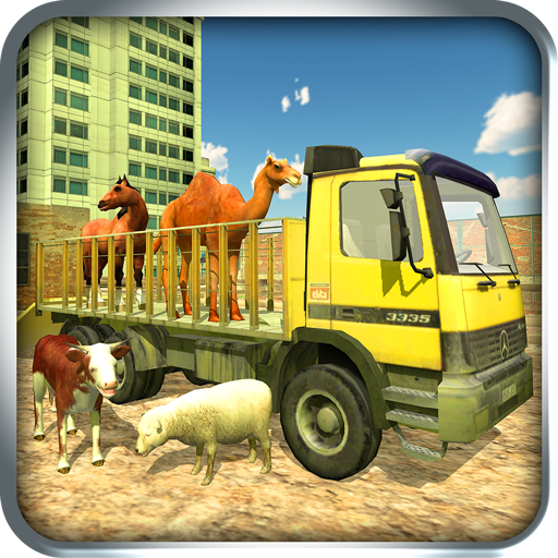 farm and zoo animal transport truck (game)