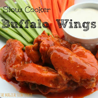 Slow Cooker Buffalo Wings.