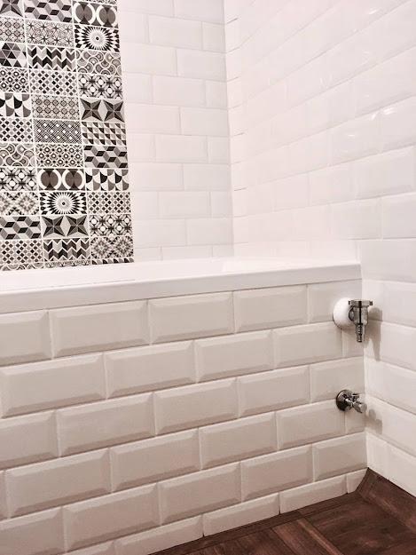 Metro csempe -Patchwork dekor fürdőszoba