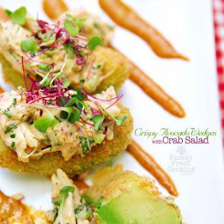 Crispy Avocado Wedges with Crab Salad
