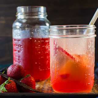Vanilla Strawberry Shrub Syrup