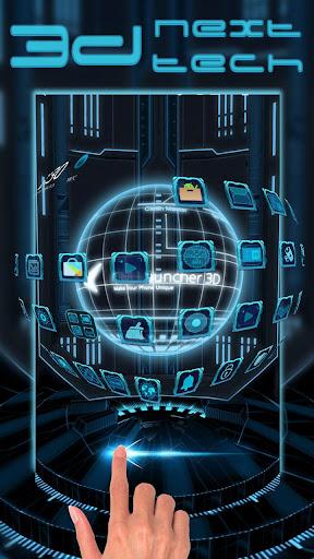3D Next Tech Theme Launcher for Huawei Samsung 1.0 screenshots 2
