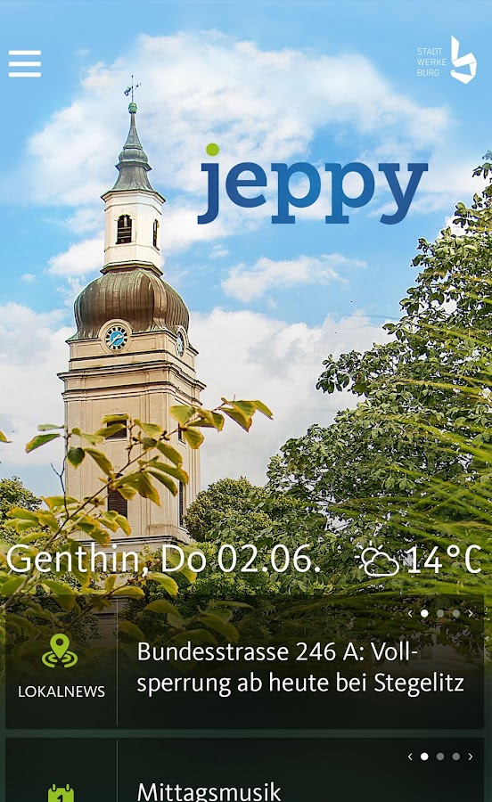 jeppy Stadtwerke Burg – Screenshot