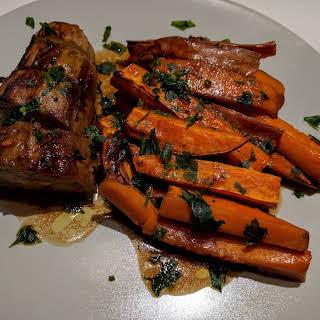 Aubergine Steak with Sweet Potato.