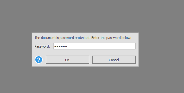 entering password for a secured PDF in Able2Extract