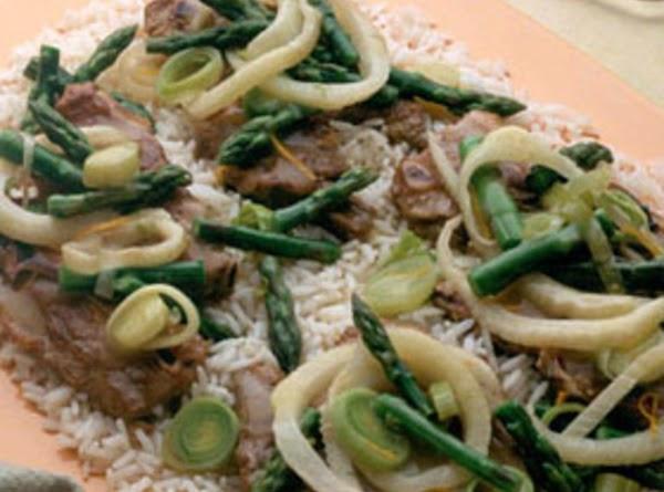 Lamb Chops With Asparagus Recipe