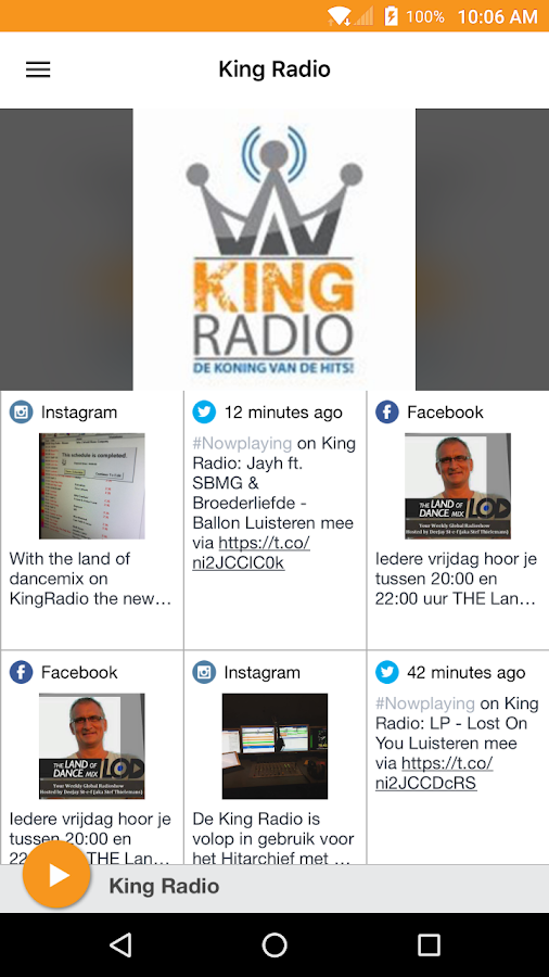 King Radio: screenshot