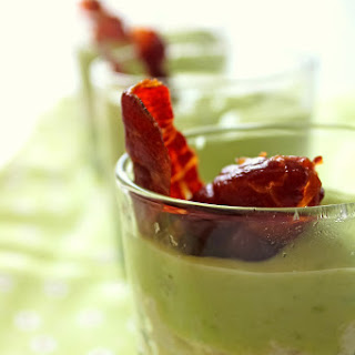 Cups of Green Peas, Brandade and Vichyssoise with Iberian Ham.